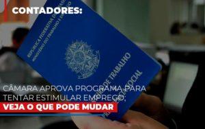 Camara Aprova Programa Para Tentar Estimular Emprego Veja O Que Pode Mudar Notícias E Artigos Contábeis - Contabilidade no Piauí | Império Contábil