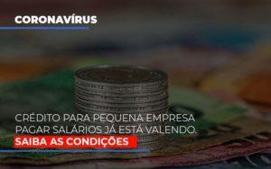 Credito Para Pequena Empresa Pagar Salarios Ja Esta Valendo Notícias E Artigos Contábeis - Contabilidade no Piauí | Império Contábil