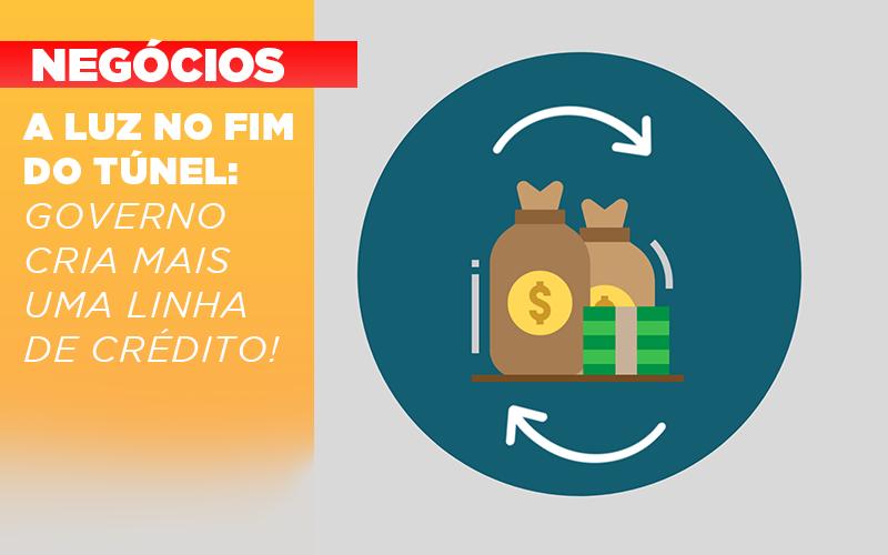 A Luz No Fim Do Tunel Governo Cria Mais Uma Linha De Credito - Contabilidade no Piauí | Império Contábil
